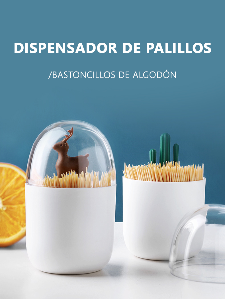 Dispensador de Palillos Bastoncillos de Algodón español 1