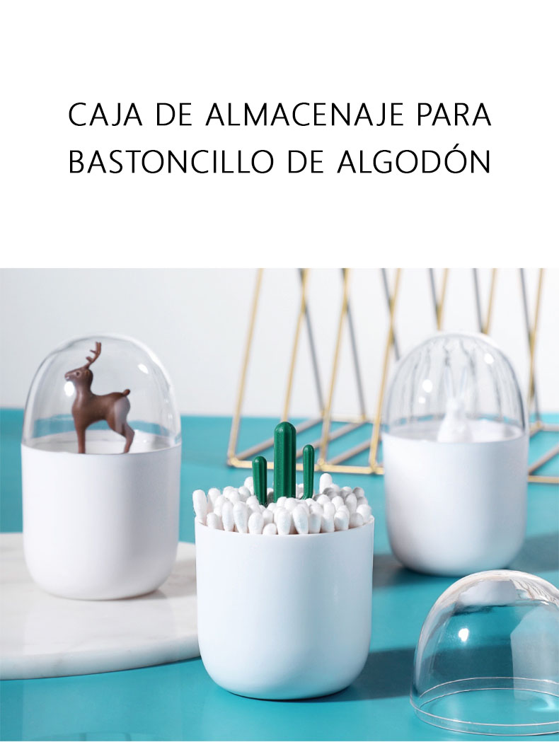 Dispensador de Palillos Bastoncillos de Algodón español 2