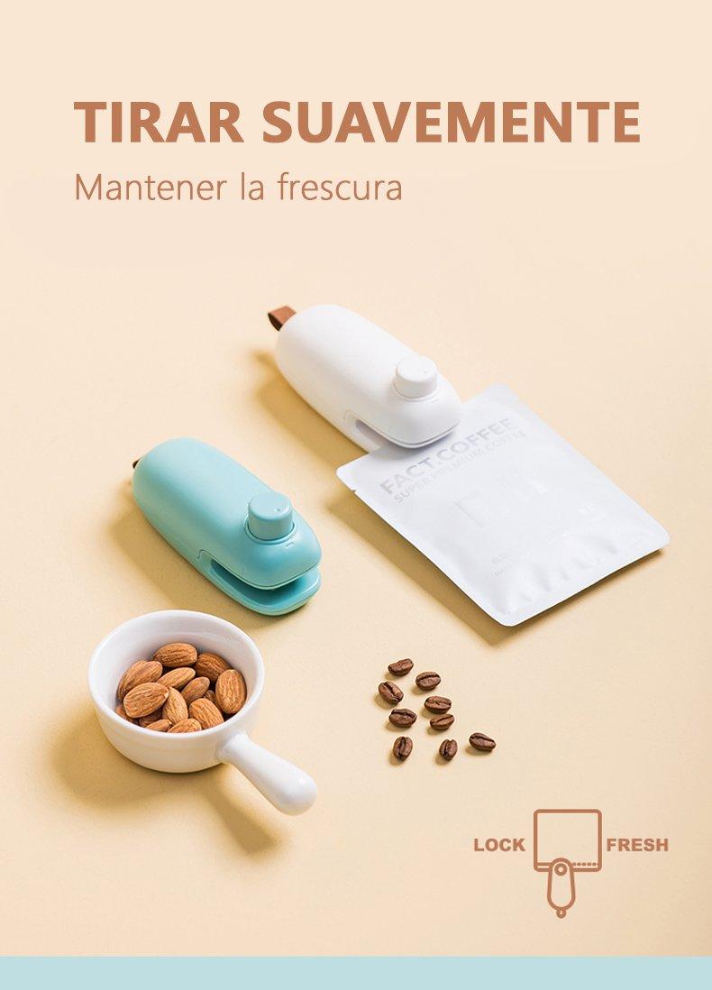 Mini máquina de Clip para sellar snacks español 1